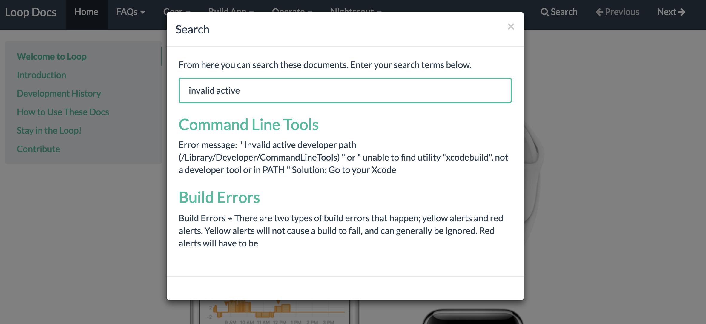 Build Errors - LoopDocs